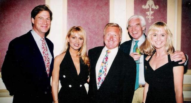 SUSAN GEORGE, SIMON McCORKINDALE and (DIDDY) DAVID HAMILTON