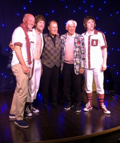 Alan Longmuir (centre) of the Bay City Rollers