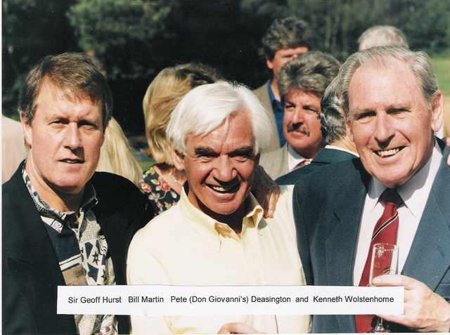 Sir Geoff Hurst and Kenneth Wolstenholme