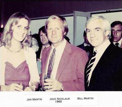 Jack Nicklaus, Jan and Bill Martin