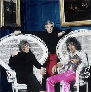 Rod Stewart and Dennis Law